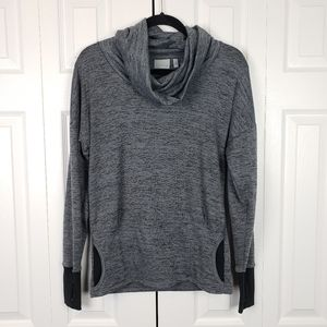 Athleta Batwing and Robin Cowl Neck Pullover Grey